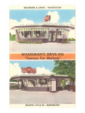 Wangman's Drive-Ins, Roadside Retro Poster