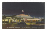 Brown Derby Restaurant at Night, Retro Prints