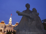 Vietnam, Ho Chi Minh City, Ho Chi Minh Statue and City Hall Photographic Print by Steve Vidler