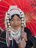 Thailand, Chiang Mai, Chiang Mai Flower Festival, Akha Hilltribe Woman Photographic Print by Steve Vidler