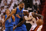 Dallas Mavericks v Miami Heat - Game One, Miami, FL - MAY 31: LeBron James and Tyson Chandler Photographic Print by Ronald Martinez
