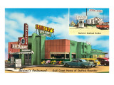 Baricev's Restaurant, Gulf Coast, Roadside Retro Posters
