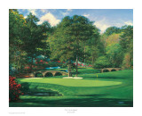The 11th At Augusta Prints by Larry Dyke