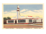 Stuart's Club Grill, Houston, Texas, Roadside Retro Art