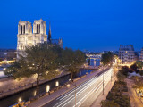 Notre Dame Cathedral and River Seine, Paris, France Photographic Print by Jon Arnold