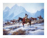 Apsaalooke Horse Hunters Poster by Martin Grelle
