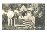 American Family Reunion with Flag Art