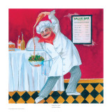 Salad Bar Chef Prints by Gloria Eriksen