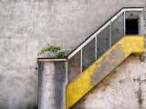 Derelict Yellow Stairway Photographic Print by Clive Nolan