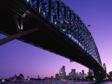 Sydney Harbour Bridge at Dusk , Sydney, New South Wales, Australia Photographic Print by Steve Vidler