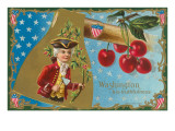 Washington Axe with Cherries Art