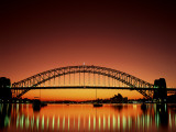 Sydney Harbour Bridge at Sunset, Sydney, New South Wales, Australia Photographic Print by Steve Vidler