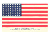 American Flag and Mottoes Posters