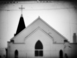 Church and Wires Photographic Print by Sharon Wish