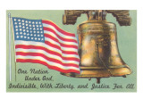 Flag, Liberty Bell and Pledge Kunstdrucke