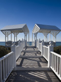 USA, Florida, Florida Panhandle, Seaside, Beach Pavillion Photographic Print by Walter Bibikow