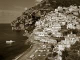 Village of Positano, Amalfi Coast, Campania, Italy Fotografie-Druck von Steve Vidler
