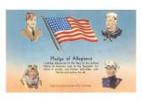 Service Men, Text of Pledge of Allegiance Prints
