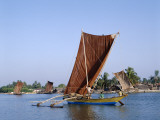Negombo Beach / Traditional Outrigger Fishing Boats, Negombo, Sri Lanka Photographic Print by Steve Vidler