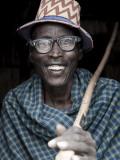 Portrait of Arbore Man, Omo Valley, Ethiopia Fotografisk tryk af Peter Adams