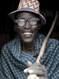 Portrait of Arbore Man, Omo Valley, Ethiopia Fotodruck von Peter Adams