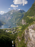 Cruise Ships, Geirangerfjord, Western Fjords, Norway Photographic Print by Peter Adams