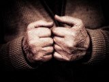 An Old Man's Hands Photographic Print by Clive Nolan