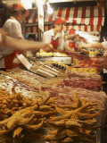 Seafood Stall at Night Market, Beijing, China Photographic Print by Ian Trower