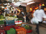 Vegetable Stall on Graham Street, Central, Hong Kong, China Photographic Print by Ian Trower