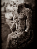 Sculpture of Unknown Person, Karnak Temple, Egypt Photographic Print by Clive Nolan