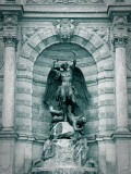 Fountain at Place St-Michel, Paris, France Photographic Print by Jon Arnold
