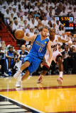 Dallas Mavericks v Miami Heat - Game One, Miami, FL - MAY 31: Jose Barea and Mario Chalmers Photographic Print by Garrett Ellwood