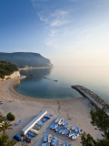 Beach, Sirolo, Marche, Italy Photographic Print by Peter Adams