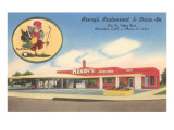 Henry's Restaurant and Drive-In, Roadside Retro Print