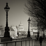 South Bank and St. Paul's Cathedral, London, England Photographic Print by Jon Arnold