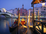 Rialto Bridge, Grand Canal and Gondolas, Vencie, Italy Photographic Print by Walter Bibikow