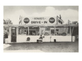 Howard's Drive-In, Roadside Retro Prints