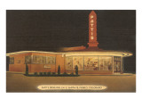 Night at Patti's Drive-in, Roadside Retro Prints