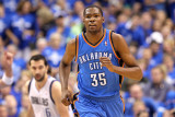 Oklahoma City Thunder v Dallas Mavericks - Game Five, Dallas, TX - MAY 25: Kevin Durant Photographic Print by Ronald Martinez