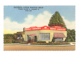 Sauzer's Little Waffle Shop, Roadside Retro Poster