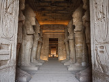 Egypt, Abu Simbel, Statues and Temple of Ramses Ii, Main Chamber Photographic Print by Michele Falzone