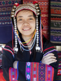 Thailand, Golden Triangle, Chiang Mai, Akha Hilltribe Girl Wearing Traditional Costume Photographic Print by Steve Vidler