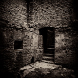 Doorway and Steps in Castle Ruins Photographic Print by Clive Nolan
