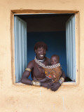 Hamer Woman with Baby Photographic Print by Peter Adams