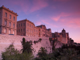 Santa Maria Cathedral and Old City Defensive Walls, Cagliari City, Sardinia, Italy Photographic Print by Doug Pearson