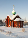 Saint Nicholas Chapel in Winter, Tikhvin, Leningrad Region, Russia Photographic Print by Nadia Isakova