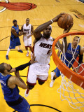 Dallas Mavericks v Miami Heat - Game One, Miami, FL - MAY 31: LeBron James and Tyson Chandler Photographic Print by Mike Ehrmann