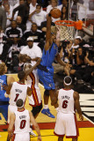 Dallas Mavericks v Miami Heat - Game One, Miami, FL - MAY 31: Brendan Haywood and Joel Anthony Photographic Print by Issac Baldizon