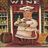 Wine Chef Art by K. Tobin