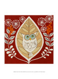 Autumn Owl Print by Helen Rhodes